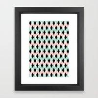 Ribbon Pattern Framed Art Print