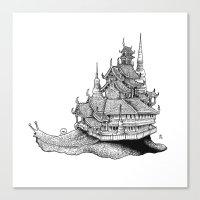 Snail Temple Canvas Print