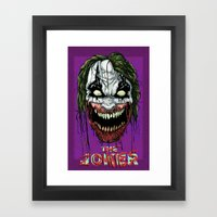 Joker Zombie Framed Art Print