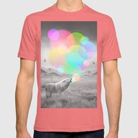 The Echoes of Silence Mens Fitted Tee Pomegranate SMALL