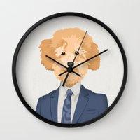 Posing Poodle Wall Clock