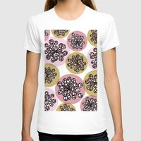 Flower Burst Womens Fitted Tee White SMALL