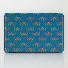 Small floral kitchen collection blue iPad Case
