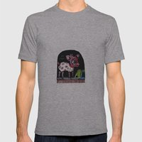 Bambi has just escaped... Mens Fitted Tee Athletic Grey SMALL