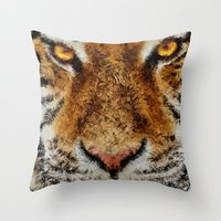 Animal Art - Tiger Throw Pillow