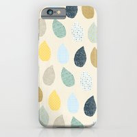 iPhone & iPod Case featuring rain drops pattern by flying bathtub
