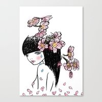 Sakura tears Canvas Print