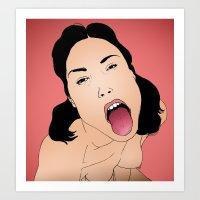Say aah Art Print