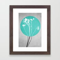 Abstract Flowers 1 Framed Art Print
