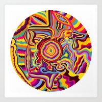 The Dancing Colors Art Print