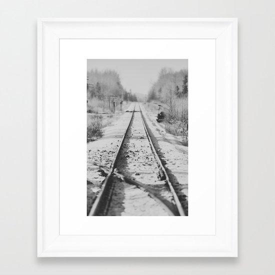 Tracks in Snow Framed Art Print
