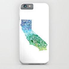 Typographic California - Cool Slim Case iPhone 6s