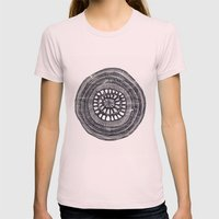 Circle Womens Fitted Tee Light Pink SMALL