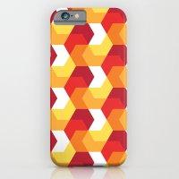 Hexagons on fire! iPhone 6 Slim Case