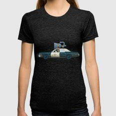 The Blues Brothers Bluesmobile 1/3 Womens Fitted Tee Tri-Black SMALL