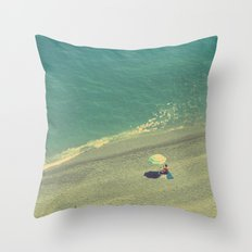 Lady on the Italian Riviera Throw Pillow