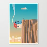 Off The Edge Canvas Print