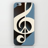 Steal Blue Retro Music &… iPhone & iPod Skin