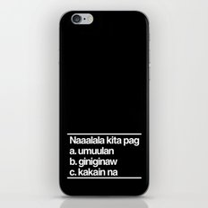 Naaalala Kita iPhone & iPod Skin