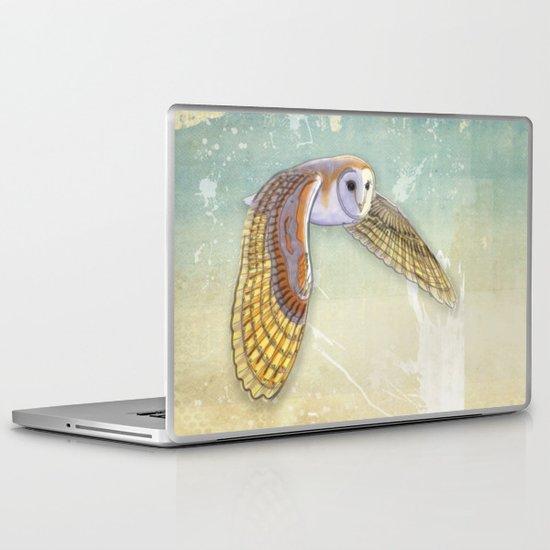 Barn Owl Labyrinth Laptop & iPad Skin