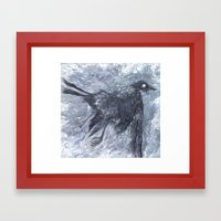 The Bearded Crow Framed Art Print