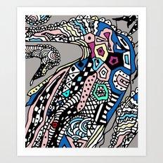 Abstract Geometric Doodl… Art Print