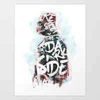Respect the Dark Side Vader Art Print