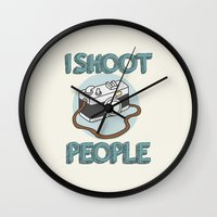 I Shoot People Wall Clock