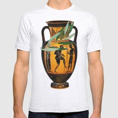 Ancient Greek Mens Fitted Tee Ash Grey SMALL