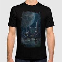 Night Outpost Mens Fitted Tee Black SMALL