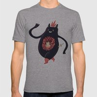 King eats King Mens Fitted Tee Athletic Grey SMALL