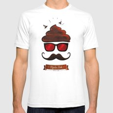 Hipster Hat SMALL Mens Fitted Tee White