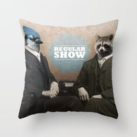 Mordecai & Rigby Throw Pillow