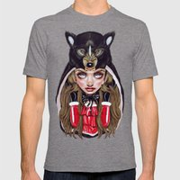 Red Riding Hood Mens Fitted Tee Tri-Grey SMALL