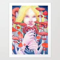 Keeper Of The Scarlet Ga… Art Print