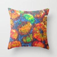 Tomatoes On Pixel Throw Pillow