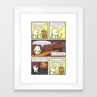 Antics #160 - another version of the truth Framed Art Print
