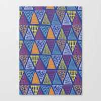 Doodle Geometric Triangles Canvas Print