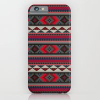 iPhone & iPod Case featuring Navajo blanket pattern- red by One Six Eight One