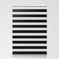 Sleepy Black and White Stripes Stationery Cards