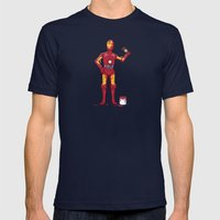 Iron Droid Mens Fitted Tee Navy SMALL