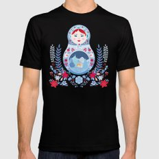 Our Lady of Winter Mens Fitted Tee Black SMALL