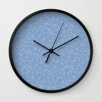 Ab Repeat Hot Pink B Wall Clock