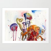 Garden of octopus Art Print