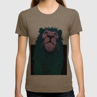 Lion Bust Womens Fitted Tee Tri-Coffee SMALL