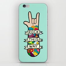 Rock This Way iPhone & iPod Skin