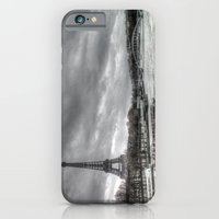 The Eiffel Tower and the Seine - Paris cityscape - hdr iPhone 6 Slim Case