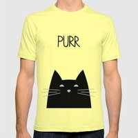 Purr Mens Fitted Tee Lemon SMALL