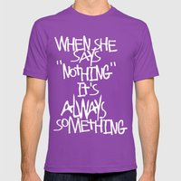 Some Advice. Mens Fitted Tee Ultraviolet SMALL