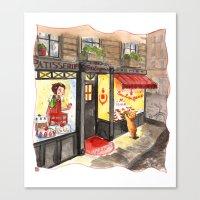 Little Bear Boulangerie Canvas Print